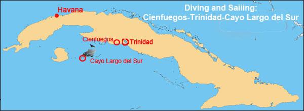 Diving-Sailing Cienfuegos-Trinidad-Cayo Largo del Sur