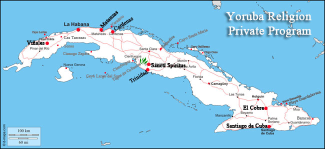 yoruba religion and the cuban culture tour map